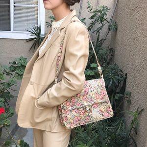 Vintage multicolored tapestry shoulder bag